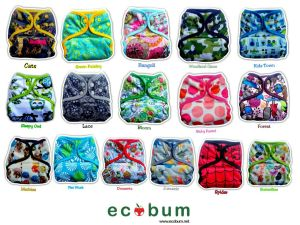 Ecobum pocket diaper dengan outer minky dan PUL yang bisa jadi pilihan