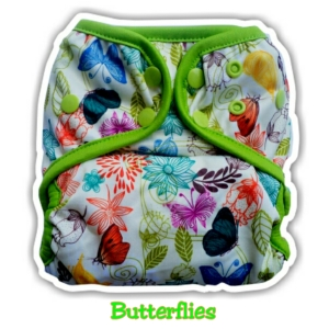 11. Clodi Ecobum Snap PUL Butterflies - Motif Girl