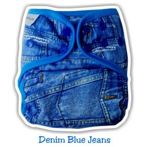 3. Cover Universal Clodi Ecobum Denim Blue Jeans - Motif Unisex