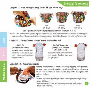Penggunaan Ecobum Pant step 1-3