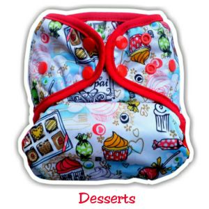 Ecobum Pocket Desserts (PUL-Snap) Fits 3-15kg