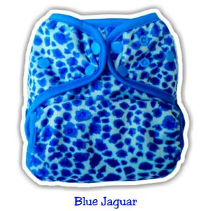 Ecobum Pocket Blue Jaguar (Minky-Snap) Fits on 3-15kg