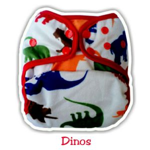 Ecobum Pocket Dinos (Minky-Snap) Fits on 3-15kg