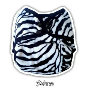 Ecobum Pocket Zebra (Minky-Snap) Fits on 3-15kg
