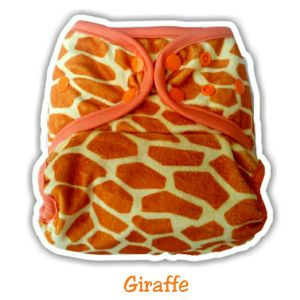 Ecobum Pocket Giraffe (Minky-Snap) Fits on 3-15kg
